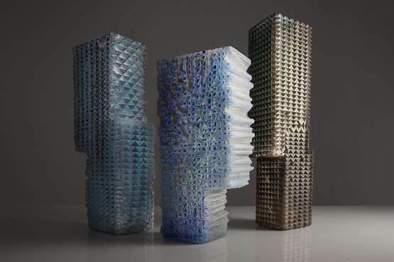 Glass vessels by Thaddeus Wolfe