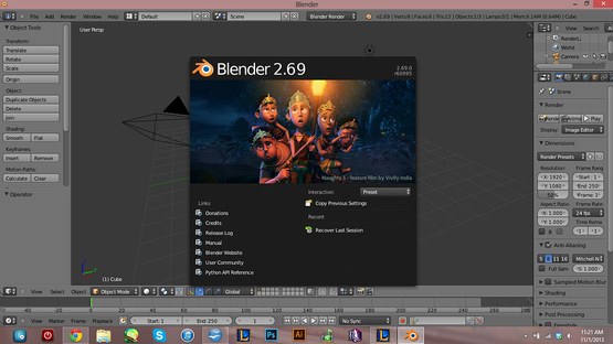 <strong>Blender Interface</strong><br />