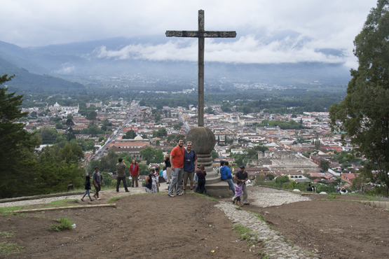 Cerro de la Cruz (The Hill of The Cross) overlooking Antigua and the nearby volcano. So long, Antigua!