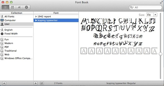 <strong>Installing in Font Book</strong><br />