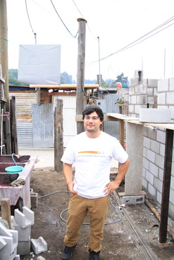 This is Logan, the volunteer coordinator for Constru Casa, shown here in San Miguel Duenas, where we are building. Logan, thanks for all you have done!