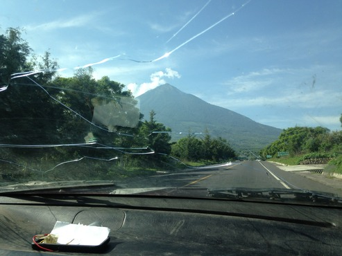 Morning drive from Antigua to our work site in San Miguel Duenas.