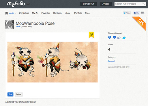 This is an example of what the live portfolio page will look like. My portfolio has video AND illustration, so it will make it easier for others to browse my work when it is organized according to the category of work.