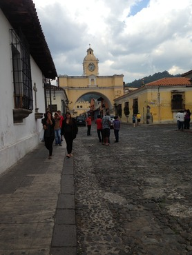 Walking tour of Antigua, with our Constru Casa liaison, Logan, and with my Kent State colleague, Dustan.