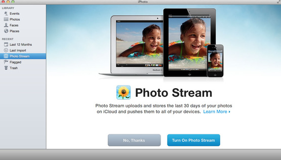 "On a Mac, open up iPhoto and view your pictures there also by selecting ""Photo Stream"" on the left sidebar!"