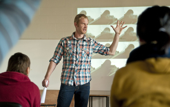 Professor Jimmy Kuehnle teaching class