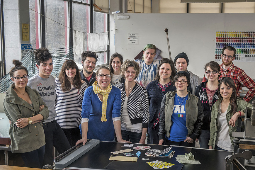 CIA students collaborated with Zygote Press, Inc. and other Northeast Ohio artists on the Fluxus Arts Advocacy Project, a project designed to promote art awareness among thought leaders in Ohio.