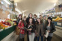 Students on a visit to the West Side market