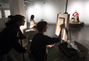 Students paticipating in Wednesday night pay-as-you-go Life Drawing.