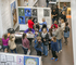 Parents and students enjoying the Young Artist Exhibition reception.