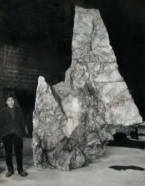 <strong>&quot;Catskill&quot; cliff and Bromberg, 1968</strong><br />fiberglass
