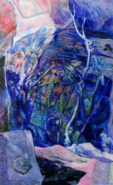 <strong>&quot;View from California Quarry,&quot; 2001</strong><br />acrylic