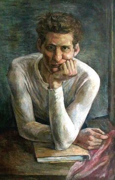 <strong>Self-Portrait, 1937</strong><br />Manuel Brombergoil on canvas