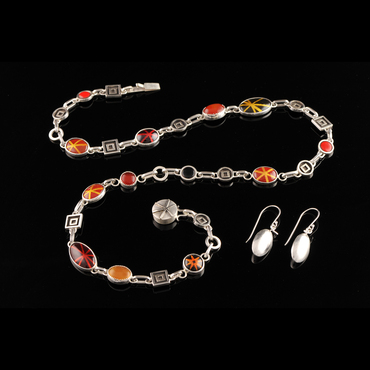 Necklace and earring set by Pam Argentieri