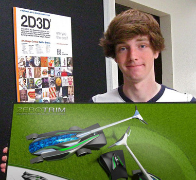<strong>John O'Laughlin, Crawford County Career &amp; Technical Center</strong><br />Best in Category: Craft, &quot;ZeroTrim Solar Lawnmower / Modo 601 / Photoshop CS6&quot;
