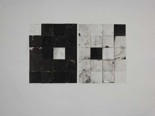 Alex Larsen, Junior<br />Emerging Artist Pre-College Scholarship: Interdisciplinary&lt;br&gt;11 Phase 5x4 Tile Displacement #2