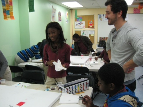 "Students are placed, for a semester at a time, as ""artists in the classroom"" in local urban schools."