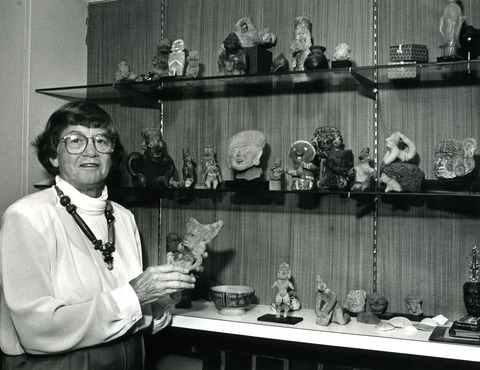 Franny Taft with her collection