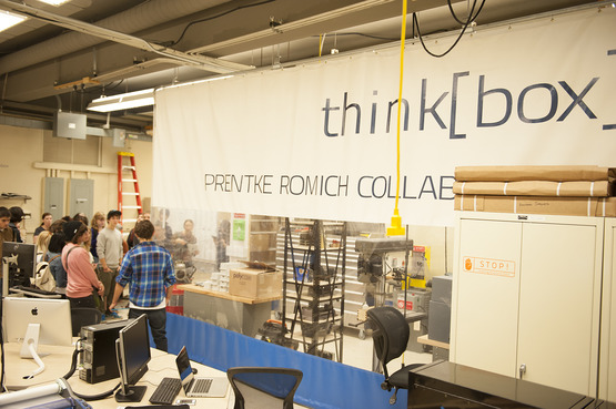 Students from all majors are encouraged to utilize the think[box], Case Western Reserve University School of Engineering's technology, innovation and collaboration center.