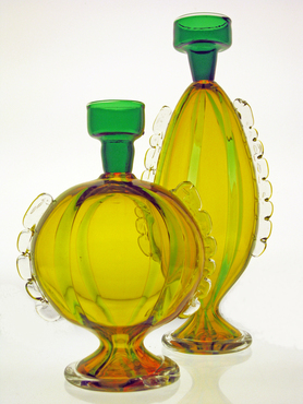 Glass pieces created by Matthew Urban, titled