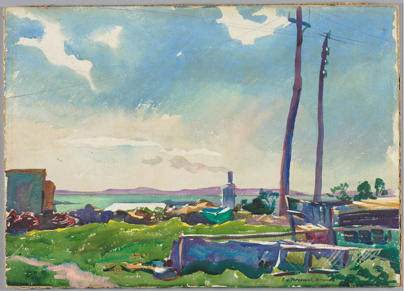 Carl William Broemel '09 (American, 1891-1984). Painter, watercolorist. Air and Sunshine (1924). Watercolor. The Cleveland Museum of Art, Hinman B. Hurlbut Collection 1241.1924