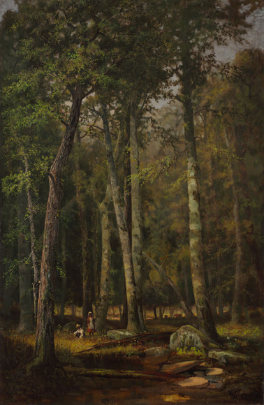 Rufus Way Smith (American, 1840-1900). Painter; on CIA faculty 1882-1884. A Summer Afternoon (1882). Oil on canvas, 101.6 x 67.3 cm. The Cleveland Museum of Art, Gift of Estate of Mrs. B. D. Babcock 1927.5