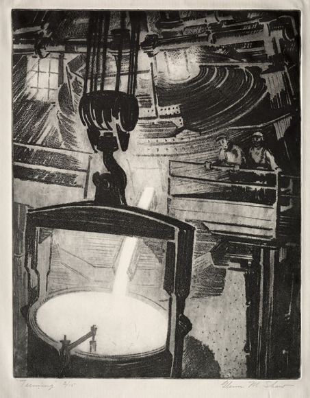 Glenn Moore Shaw '13 (American, 1891-1981). Painter, muralist, printmaker, designer; on CIA faculty 1923-1958. Teeming (c. 1936). Softground etching. The Cleveland Museum of Art, Gift of The Print Club of Cleveland 1936.359