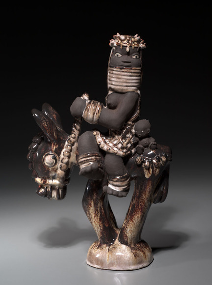 Russell Barnett Aitken '31 (American, 1910-2002). Ceramic sculptor, enamellist, big game hunter, writer, editor for Field and Stream. Bini Belle (c.1940). Glazed ceramic, 36.5 x 23.6 cm. The Cleveland Museum of Art, Dudley P. Allen Fund 1940.57