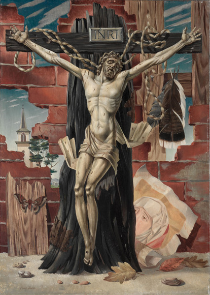 Paul F. Riba '36 (American, 1912-1977). Painter; on CIA faculty 1950-1963. The Crucifix (1944). Oil on canvas, 71.1 x 50.8 cm. The Cleveland Museum of Art, Wishing Well Fund 1944.244