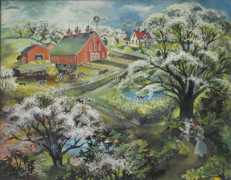 Thelma Frazier (Winter) '29 (American, 1905-1977). Ceramic sculptor, designer, painter; on CIA faculty 1938-1940, 1944-1950. God�??s Garden (1945). Oil on canvas, 55.9 x 71.1 cm. The Cleveland Museum of Art, Silver Jubilee Treasure Fund 1945.47