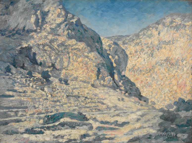 Lydia May Ames '00 (American, 1863-1943). Painter; on CIA faculty 1898-1918. The Shining Rocks of the Ancients (1911). Oil on canvas, 46.4 x 61.6 cm. The Cleveland Museum of Art, Bequest of May Ames 1947.194