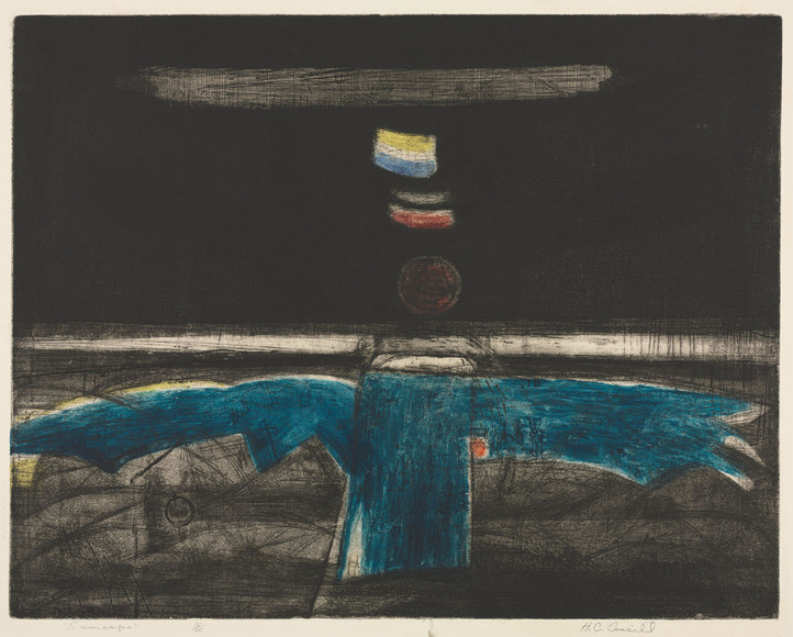 Herbert Carroll Cassill (American, 1928-2008). Printmaker; on CIA faculty 1958-1991, 1991-2000 emeritus. Seascape (c. 1956). Intaglio. The Cleveland Museum of Art, The Mary Spedding Milliken Memorial Collection, Gift of William Mathewson Milliken 1956.255
