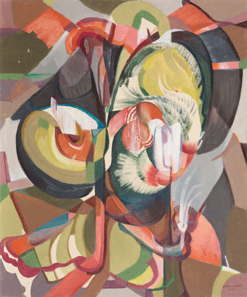 Clara Louise Deike '12 (American, 1881-1964). Painter. Rhythmic Movement (1956). Oil on board, 60.4 x 50 cm. The Cleveland Museum of Art, Cleveland Traveling Exhibitions Fund 1957.176