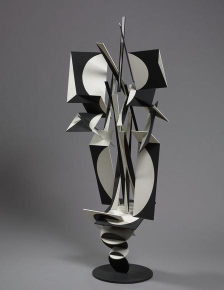 John R. Clague '56 (American, 1928-2004). Sculptor; on CIA faculty 1959-1972. Progression in Black and White (1963). Painted steel, h: 172.7 cm. The Cleveland Museum of Art, Wishing Well Fund 1963.267