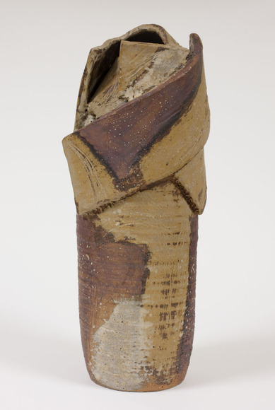 James D. Watral '66 (American, 1942-  ). Ceramic artist, professor at Eastfield College (Mesquite, TX). Slab-Built Stoneware Jar (1963). Glazed ceramic, 36.83 x 12.7 cm. The Cleveland Museum of Art, The Harold T. Clark Educational Extension Fund 1964.330