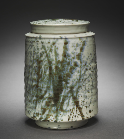 Charles Lakofsky '44 (American, 1922-1993). Ceramic artist, professor at Bowling Green State University 1949-1982. Covered Jar (1966). Porcelain, 19.7 cm (overall). The Cleveland Museum of Art, The Mary Spedding Milliken Memorial Collection, Gift of William Mathewson Milliken 1966.211