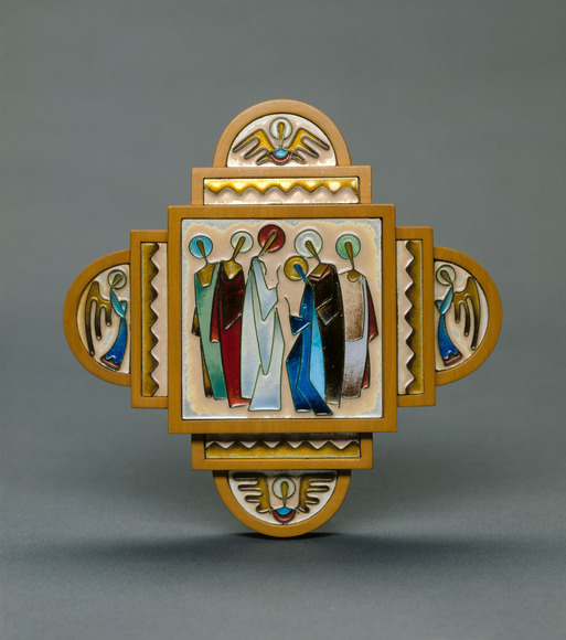 Charles Bartley Jeffery '32 (American, 1910-1992). Enamellist. The Annunciation (date unknown). Enamel on silver, h: 12.7 cm. The Cleveland Museum of Art, Gift of Mrs. Charles Bartley Jeffery 1994.212