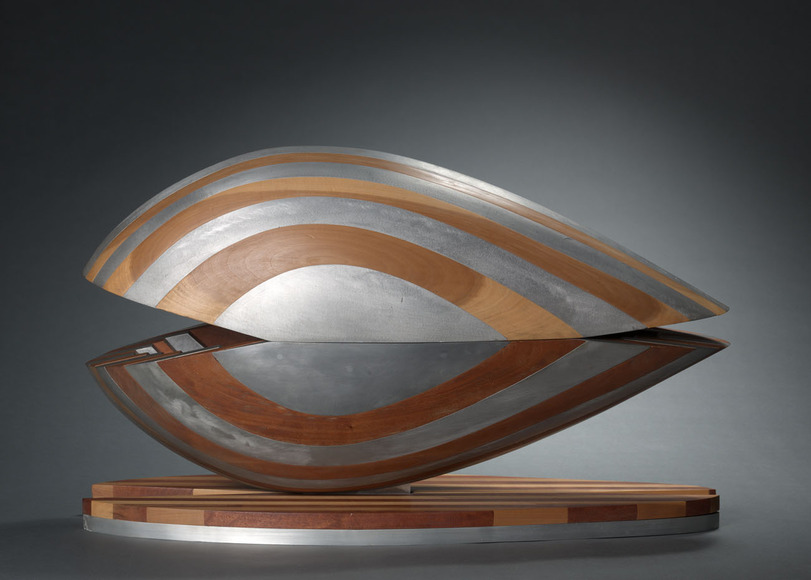 David E. Davis '48 (American, b. Rumania, 1920-2002). Sculptor, commercial artist, philanthropist. Growth Bands V (1971). Wood, aluminum, 63.5 x 104.2 x 35.6 cm (overall). The Cleveland Museum of Art, Gift of the Artist 1997.24