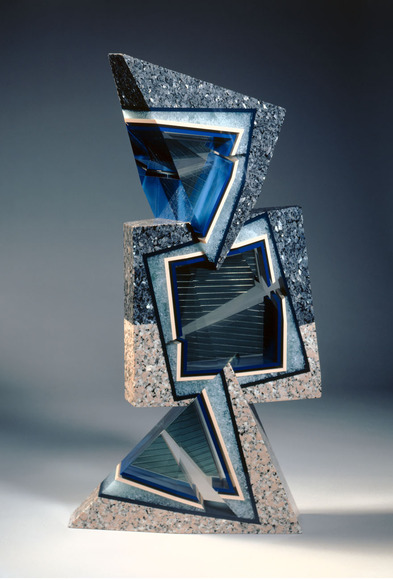 William D. Carlson '73 (American, 1950-  ). Glass artist, professor at the University of Miami. Prägnanz (c. 1990). Mixed media, 94.6 x 49.5 x 35.5 cm. The Cleveland Museum of Art, Gift of Francine and Benson Pilloff 2005.186