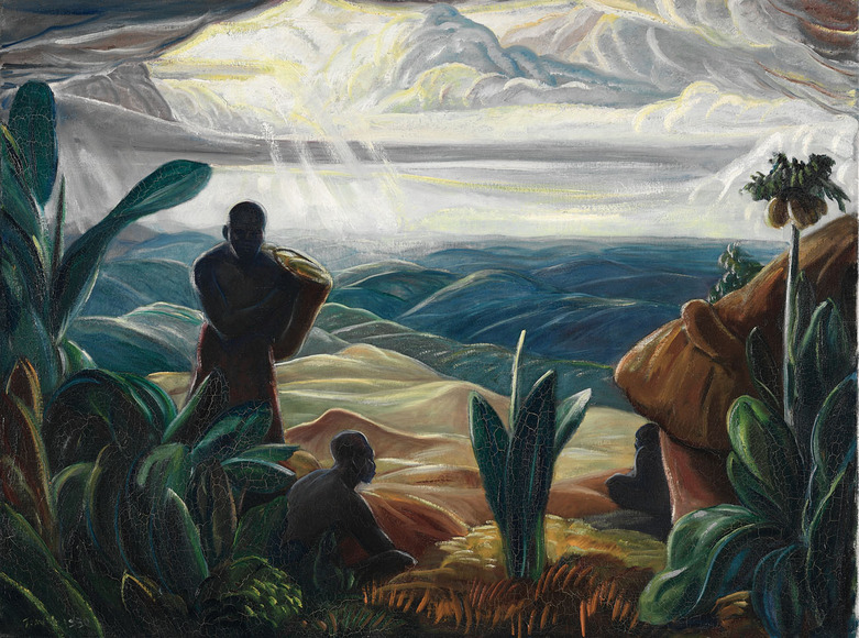 Paul Bough Travis '17 (American, 1891-1975). Painter; on CIA faculty 1920-1958. My First View of the Congo Forest (1930). Oil on canvas, 76.9 x 101.9 cm. The Cleveland Museum of Art, Hinman B. Hurlbut Collection 2083.1930