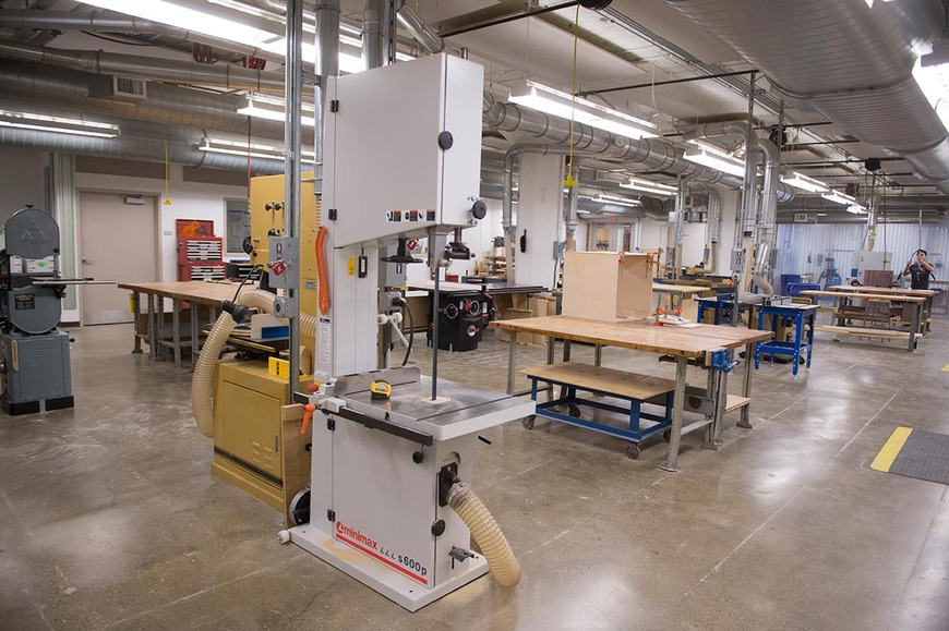 The CIA wood shop has band saws with the capacity to cut widths of 14 to 24 inches with a resaw capacity of 24 inches.