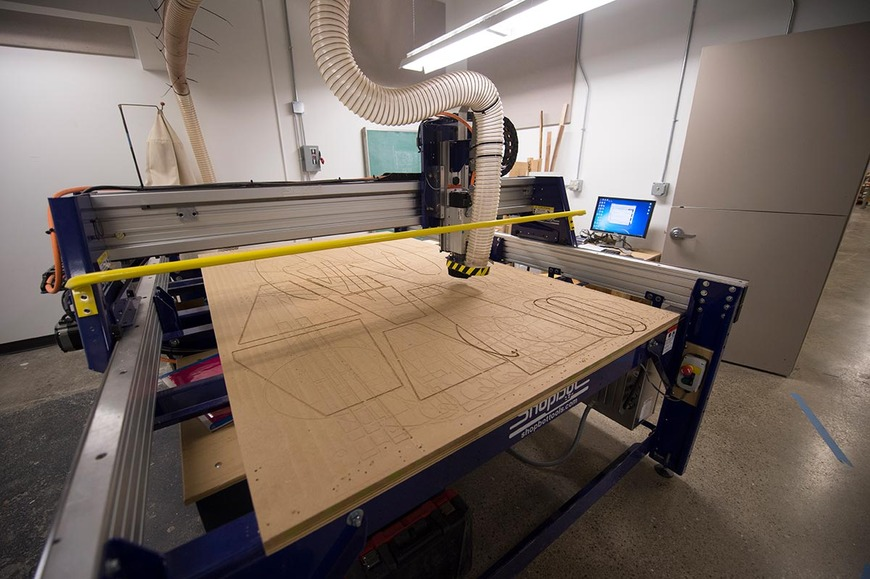 CIA's ShopBot CNC milling machine has a 60-by-96-inch capacity.