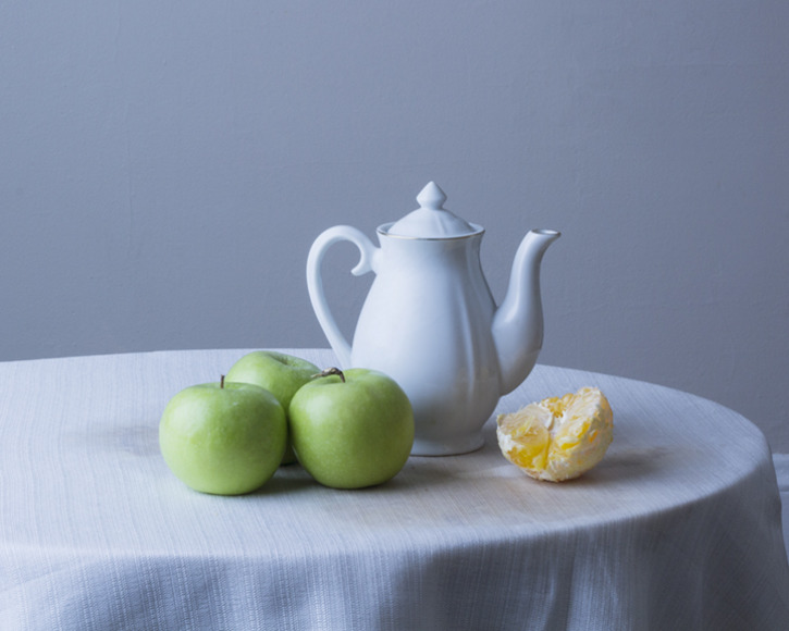 <strong>Still Life with Teapot</strong><br />Rosalee Bernabe, 2014<br />