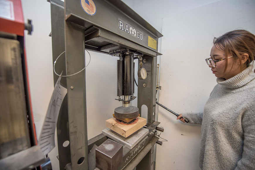 Equipment such as the hydraulic press aid students in achieving quick forms for making jewelry, objects and sculpture.