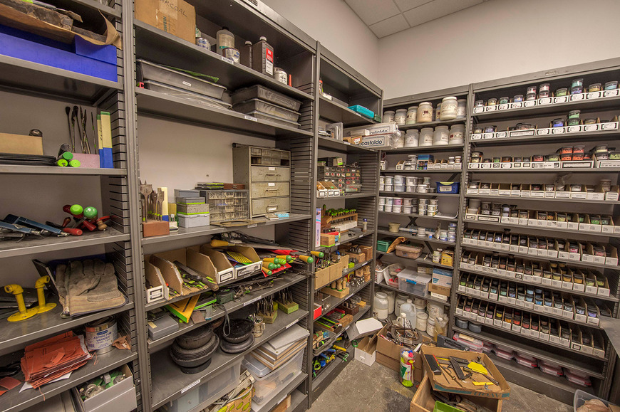 Tools and supplies are kept fully stocked so that students can easily acquire what they need.
