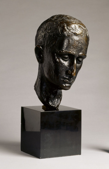 "William Mozart McVey '28 (American, 1905-1995). Sculptor; on CIA faculty 1953-1988, 1989-1994 emeritus. L'écrivain, or ""The Writer"" (c. 1932). Bronze, 31.1 x 16.9 x 21.6 cm. The Cleveland Museum of Art, Hinman B. Hurlbut Collection 965.1932"
