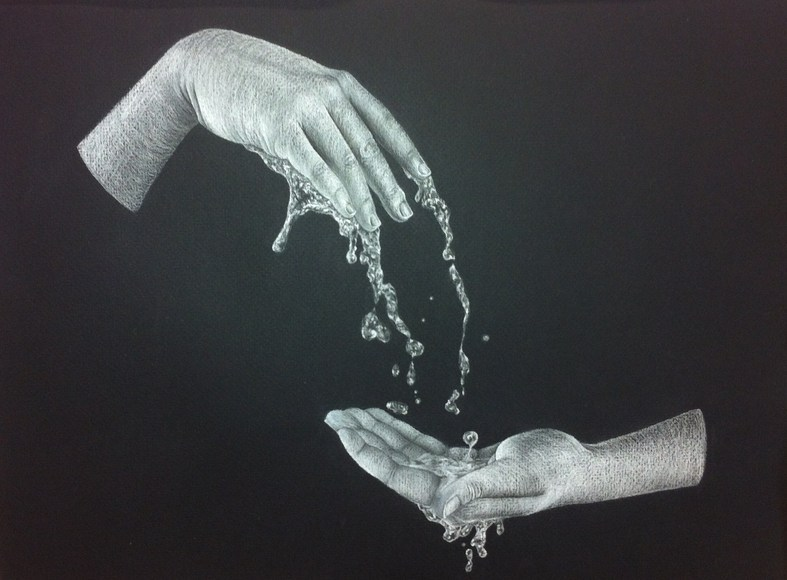 <strong>A Pair of Hands as a Fountain - Honorable Mention, Visual Arts Category</strong><br />Kendall Tiller, Ronald Reagan High School - San Antonio, Texas