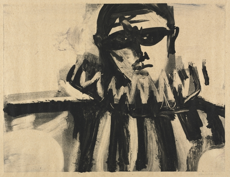 Richard Andres '50 (American, b. 1927-2013). Painter, long-time teacher in the Cleveland Public Schools. Masquerade (c. 1959). Monotype. Silver Jubilee Treasure Fund 1959.143