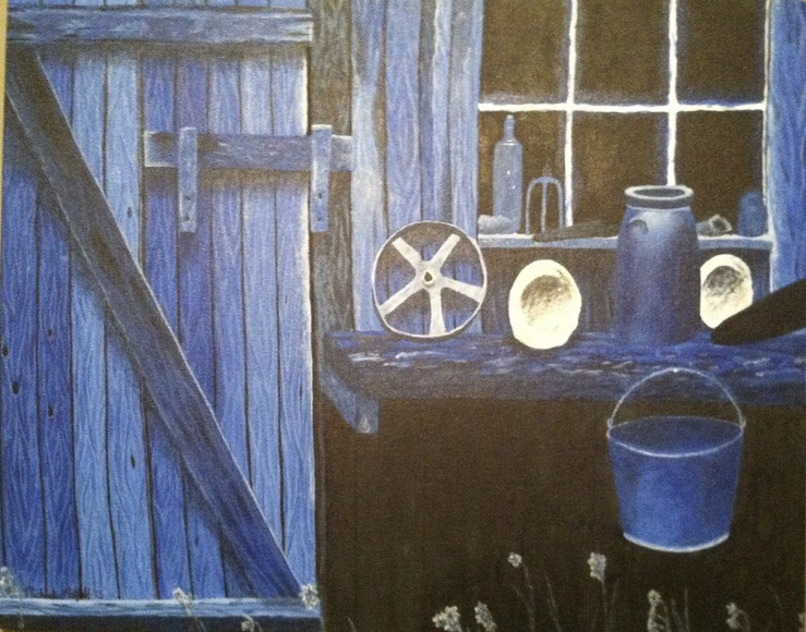<strong>Blue Barn - Honorable Mention, Visual Arts Category</strong><br />Michaela Nietfeld, Junior<br />Uniontown High School; Hometown: Mapleton, KS