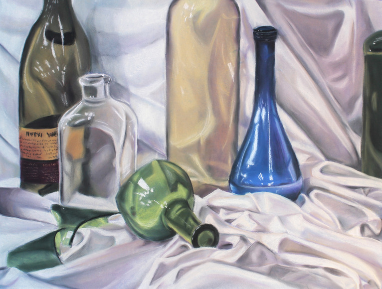 <strong>Bottle Still Life - Honorable Mention, Visual Arts Category</strong><br />Nicole Specht, Brecksville Broadview Heights High School - Brecksville, Ohio